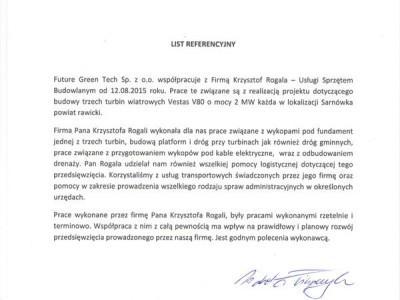 maszyny budowlane Krzysztof Rogala referencje Referencje Future