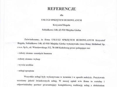 maszyny budowlane Krzysztof Rogala referencje Referencje Helinbud